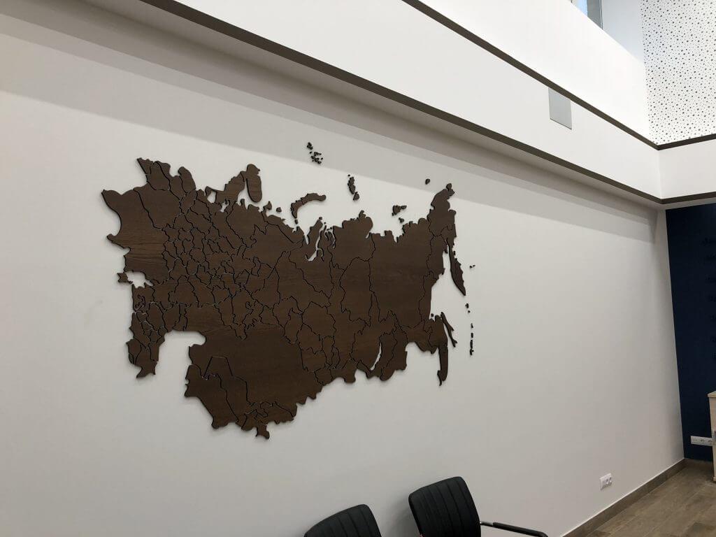 Карта Российская