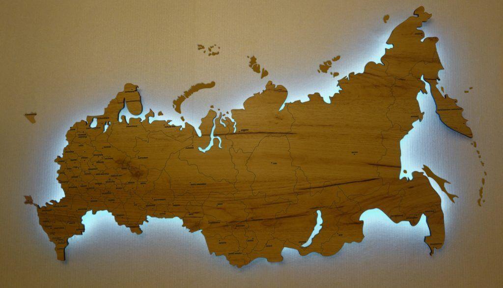 Россия с городами